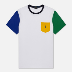 Мужская футболка Polo Ralph Lauren Colour Block Pocket White/Multi