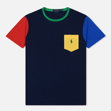 Мужская футболка Polo Ralph Lauren Contrast Panel Sleeve Pocket Newport/Multi