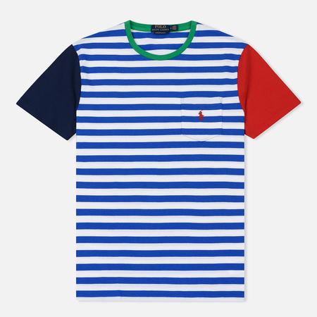 Мужская футболка Polo Ralph Lauren Contrast Stripe Sleeve Pocket Sapphire Star/Multi