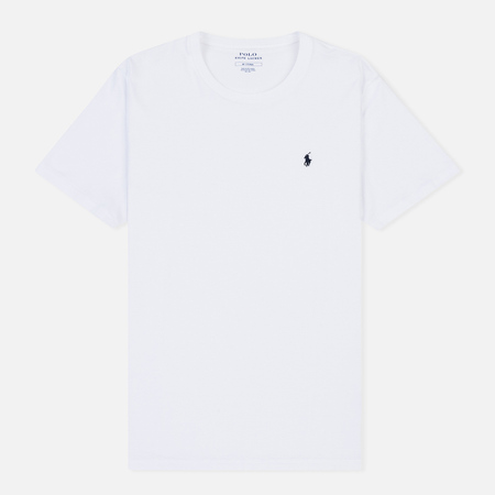 Мужская футболка Polo Ralph Lauren Crew Neck Liquid Cotton White