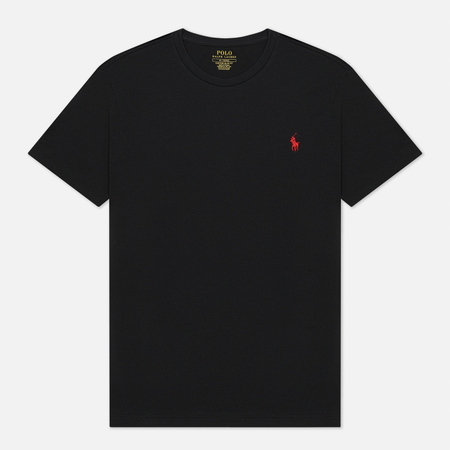 Мужская футболка Polo Ralph Lauren Custom Fit Crew Neck 26/1 Jersey Black