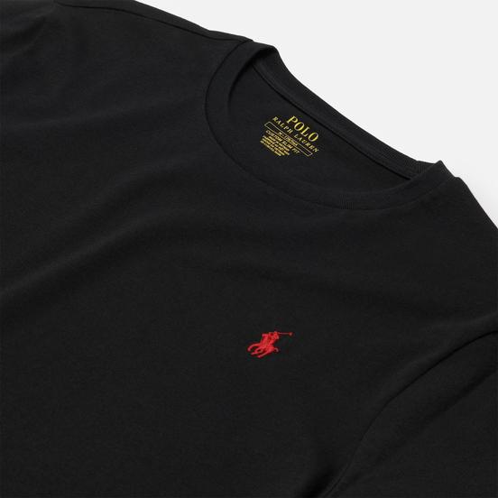 Мужская футболка Polo Ralph Lauren Custom Fit Crew Neck 26/1 Jersey Black