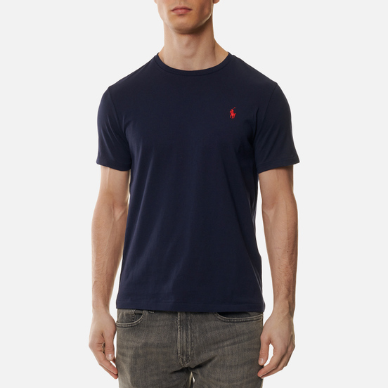 Мужская футболка Polo Ralph Lauren Custom Fit Crew Neck 26/1 Jersey Ink