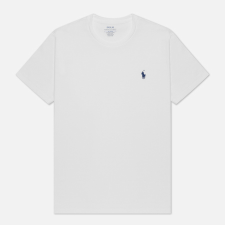 Мужская футболка Polo Ralph Lauren Custom Fit Crew Neck 26/1 Jersey White