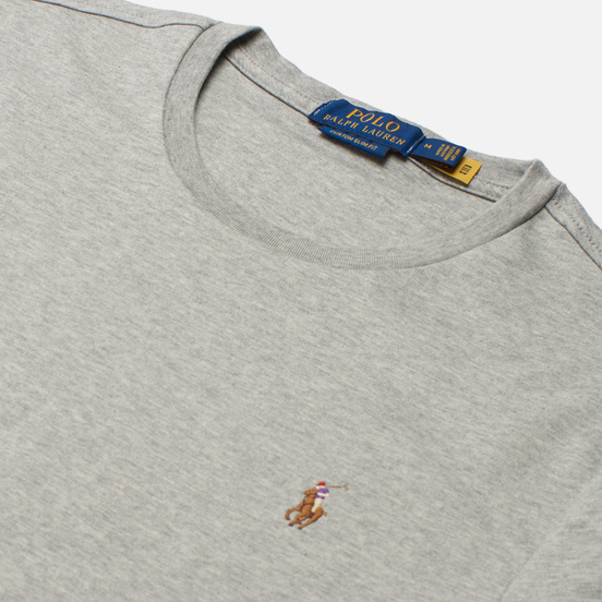 Мужская футболка Polo Ralph Lauren Custom Slim Fit Interlock Andover Heather