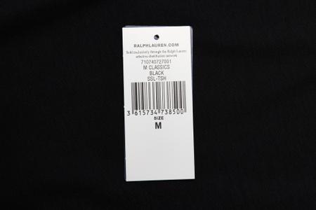 Мужская футболка Polo Ralph Lauren Custom Slim Fit Interlock Black