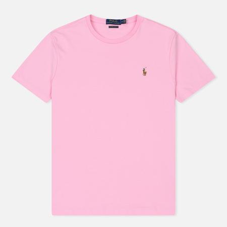Мужская футболка Polo Ralph Lauren Custom Slim Fit Interlock Carmel Pink