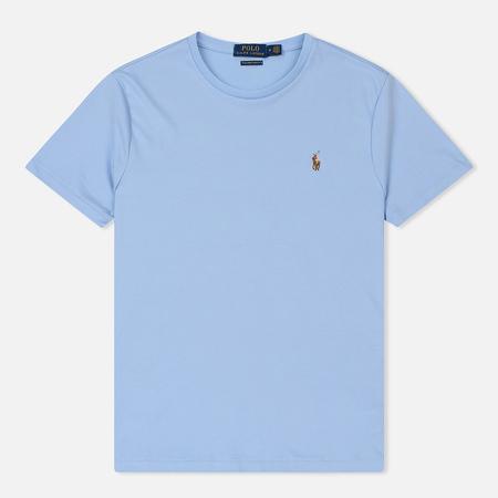 Мужская футболка Polo Ralph Lauren Custom Slim Fit Interlock Elite Blue