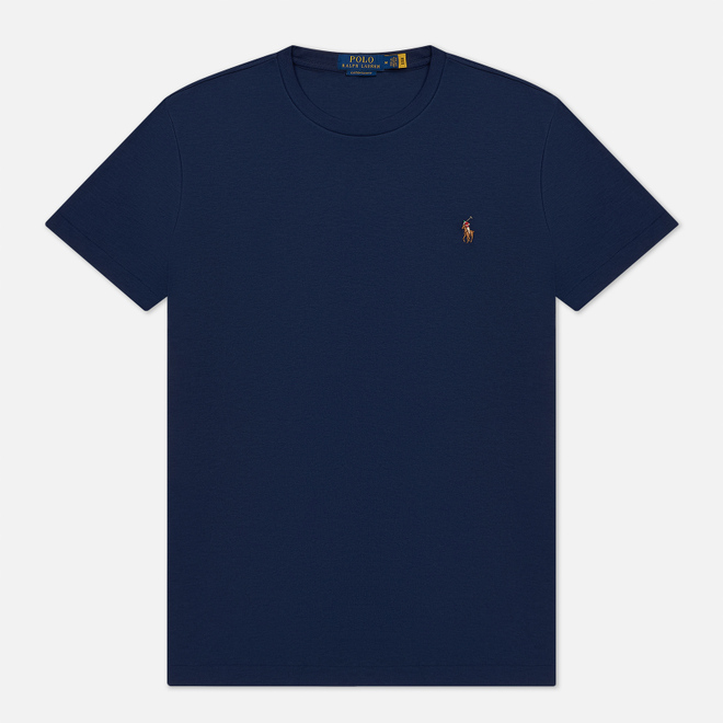 Мужская футболка Polo Ralph Lauren Custom Slim Fit Interlock French Navy