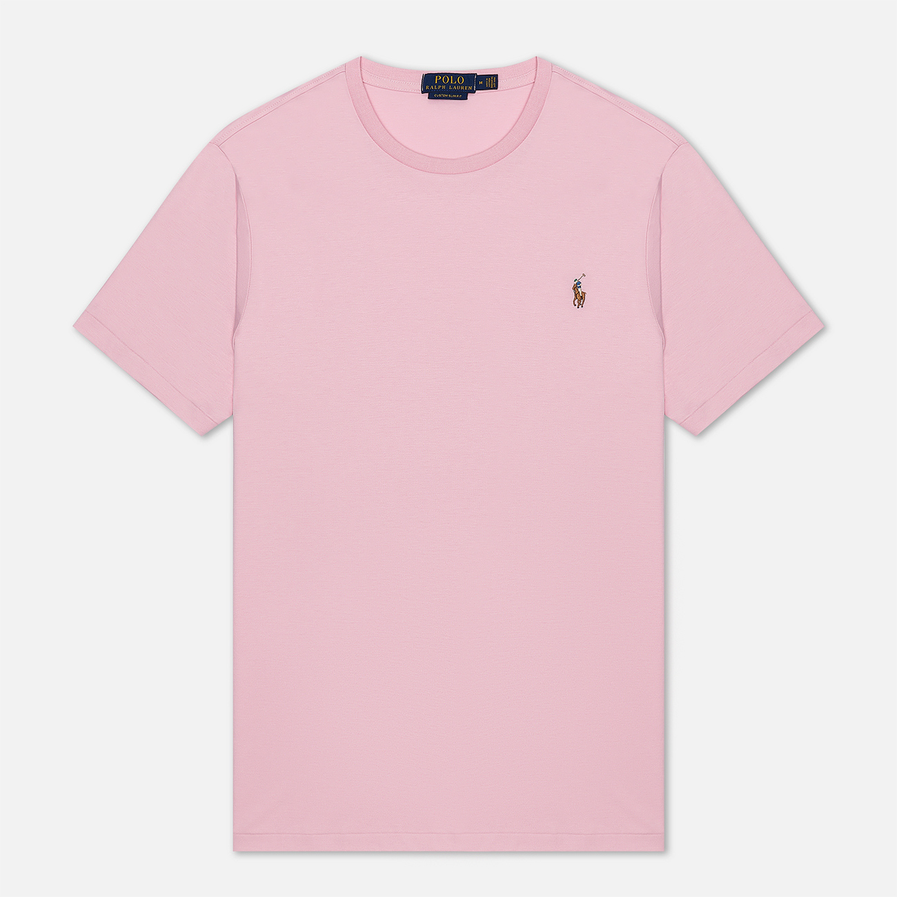 Мужская футболка Polo Ralph Lauren Custom Slim Fit Interlock Garden Pink
