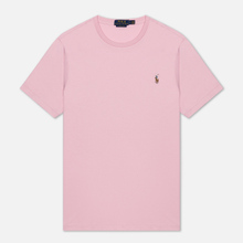 Мужская футболка Polo Ralph Lauren Custom Slim Fit Interlock Garden Pink фото- 0