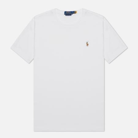 Мужская футболка Polo Ralph Lauren Custom Slim Fit Interlock White