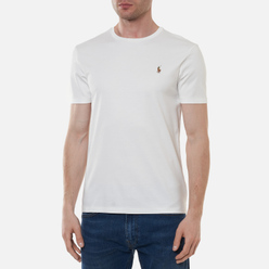 Мужская футболка Polo Ralph Lauren Custom Slim Fit Interlock White