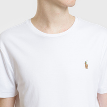 Мужская футболка Polo Ralph Lauren Custom Slim Fit Interlock White фото- 3