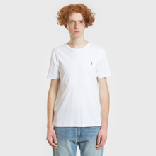 Мужская футболка Polo Ralph Lauren Custom Slim Fit Interlock White фото- 1