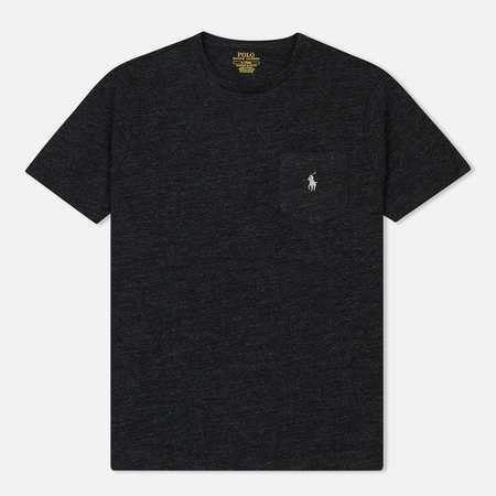 Мужская футболка Polo Ralph Lauren Embroidered Pony Patch Pocket Black Marl Heather