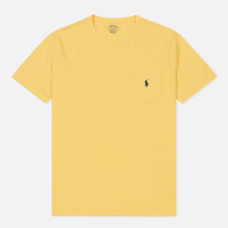 Мужская футболка Polo Ralph Lauren Embroidered Pony Patch Pocket Fall Yellow