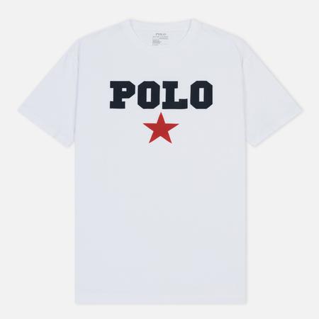 Мужская футболка Polo Ralph Lauren Graphic Polo And Red Star White