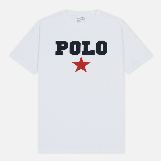 Мужская футболка Polo Ralph Lauren Graphic Polo And Red Star White