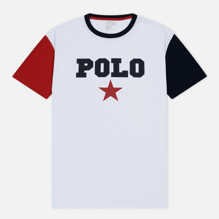 Мужская футболка Polo Ralph Lauren Graphic Polo And Red Star White/Multicolor