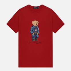 Мужская футболка Polo Ralph Lauren Iconic Polo Bear Red