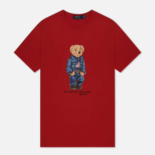 Мужская футболка Polo Ralph Lauren Iconic Polo Bear Red