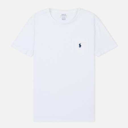 Мужская футболка Polo Ralph Lauren Logo Pocket White