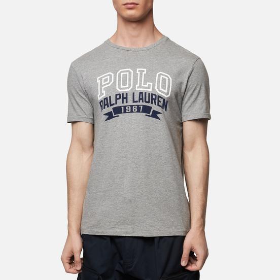Мужская футболка Polo Ralph Lauren Logo Polo 1967 Andover Heather