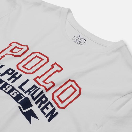 Мужская футболка Polo Ralph Lauren Logo Polo 1967 White
