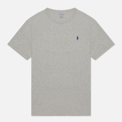 Мужская футболка Polo Ralph Lauren Logo Polo Pony Heavyweight Jersey Andover Heather/Navy