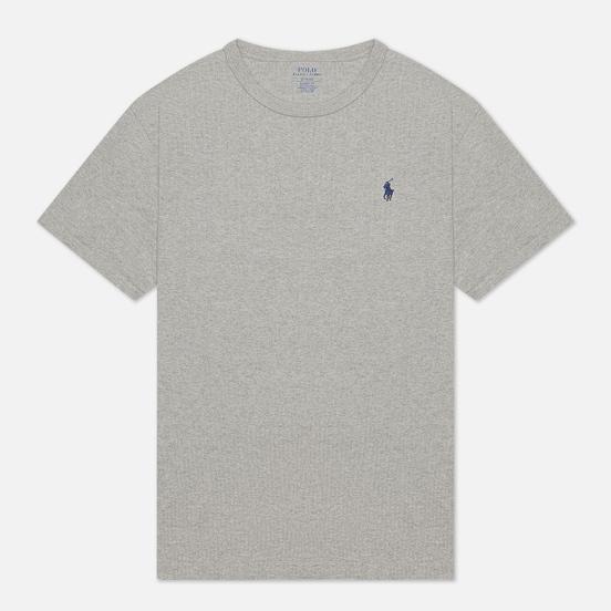 Мужская футболка Polo Ralph Lauren Logo Polo Pony Heavyweight Jersey Andover Heather/Navy