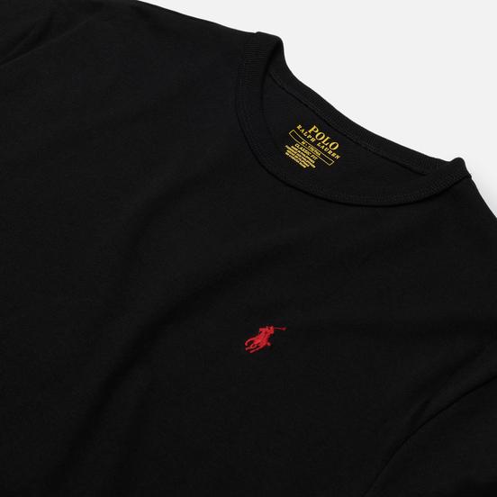 Мужская футболка Polo Ralph Lauren Logo Polo Pony Heavyweight Jersey Black/Red