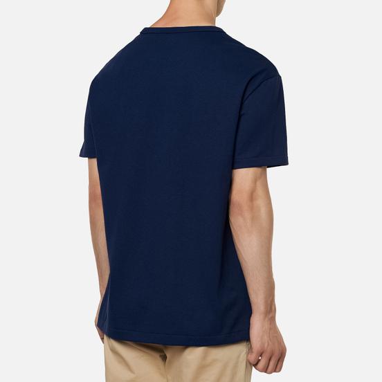 Мужская футболка Polo Ralph Lauren Logo Polo Pony Heavyweight Jersey Newport Navy/Red