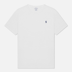 Мужская футболка Polo Ralph Lauren Logo Polo Pony Heavyweight Jersey White/Navy