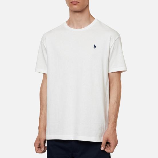 Мужская футболка Polo Ralph Lauren Logo Polo Pony Heavyweight Jersey White/Navy