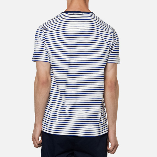 Мужская футболка Polo Ralph Lauren Logo Polo Pony Pocket Strips White/Multicolor