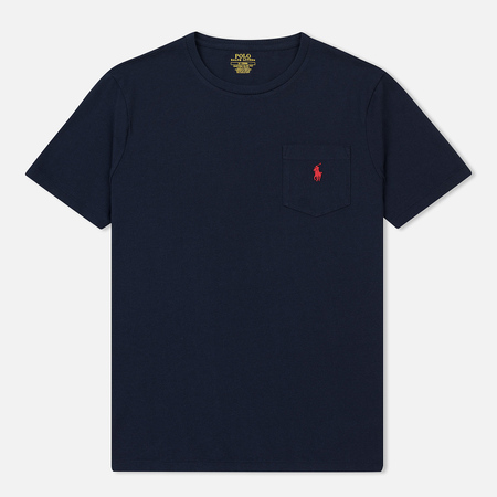 Мужская футболка Polo Ralph Lauren Pocket Embroidered Pony Ink