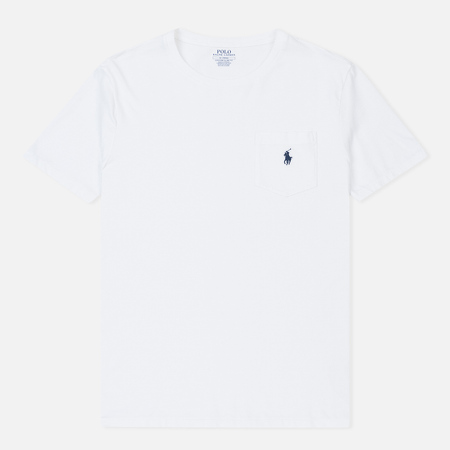 Мужская футболка Polo Ralph Lauren Pocket Embroidered Pony White
