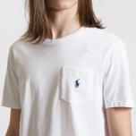 Мужская футболка Polo Ralph Lauren Pocket Embroidered Pony White 710 ... b9f155d65593a