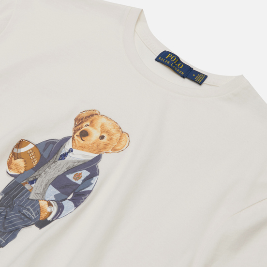 Мужская футболка Polo Ralph Lauren Polo Bear 26/1 Jersey Deckwash White