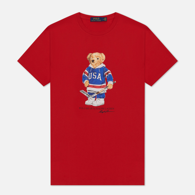 Мужская футболка Polo Ralph Lauren Polo Bear 26/1 Jersey Red
