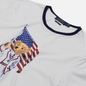 Мужская футболка Polo Ralph Lauren Polo Bear With American Flag White фото - 1