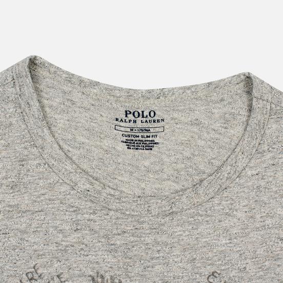 Мужская футболка Polo Ralph Lauren Polo Pony Mini Logo 26/1 Jersey Loft Heather