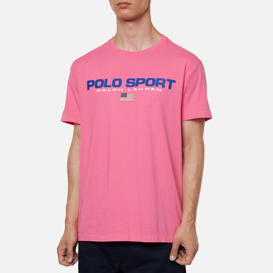 Мужская футболка Polo Ralph Lauren Polo Sport 26/1 Jersey Blaze Knockout Pink