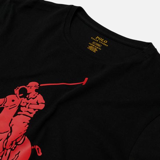 Мужская футболка Polo Ralph Lauren Rubber Print Big Pony Black