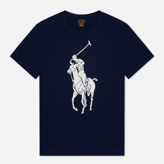 Мужская футболка Polo Ralph Lauren Rubber Print Big Pony Newport Navy
