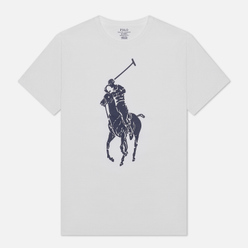 Мужская футболка Polo Ralph Lauren Rubber Print Big Pony White