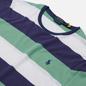 Мужская футболка Polo Ralph Lauren Three Strips Logo Polo Pony Haven Green/Multicolor фото - 1