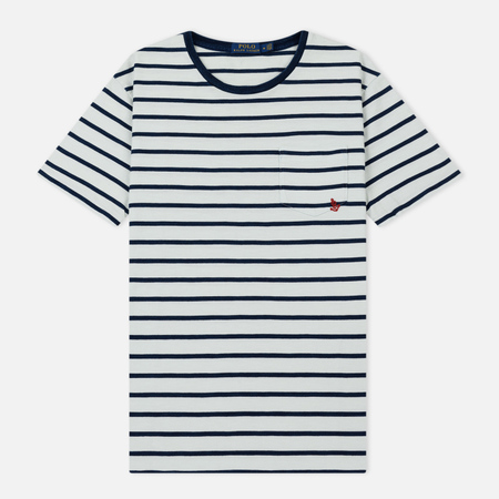 Мужская футболка Polo Ralph Lauren YD Pocket Stripe Nevis/Dark Indigo