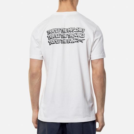 Мужская футболка Reebok x Tom & Jerry Regular Crewneck Big Print White